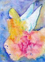 Engel auf Knien