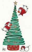 Weihnachtsbaum wird dekoriert